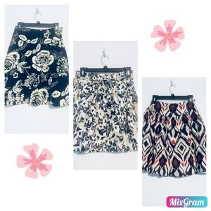 Lot of 3 xs/s summer skirts